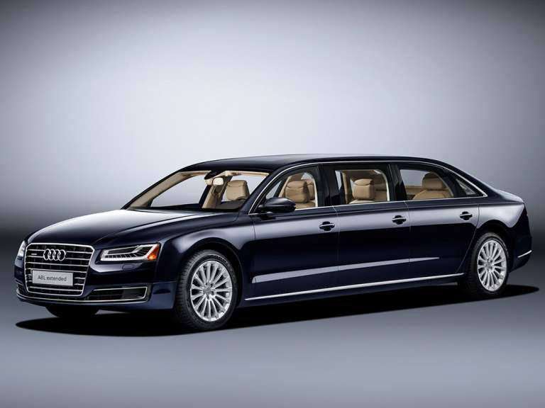 Langer financial leasen met 6-persoons Audi A8 L Extended